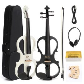 Electric Violin with Headphone Gig Bag Bow Cable