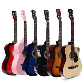 Acoustic Guitar- 38 Inch Wooden Folk