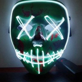 Fluorescent Mask, LED Cold Light Flash Grimace